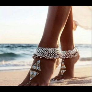 Jewelry - BOHEMIAN ANKLET (SILVER TONE)